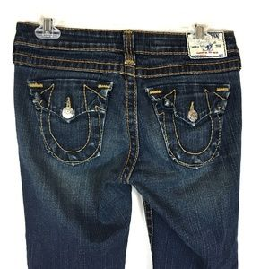 True Religion Triangle Pocket Bootcut Jeans Sz 28